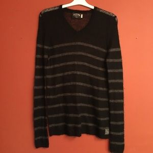 Tommy Hilfiger denim mohair striped sweater large